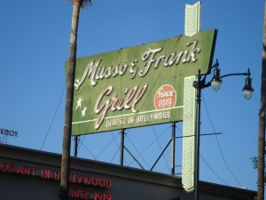 Musso & Frank Grill, Hollywood Boulevard, Los Angeles
