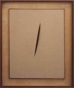 Lucio Fontana, Spatial Concept 'Waiting' (1960)